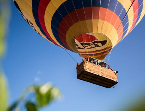 What are the baskets that hang from balloons made of?