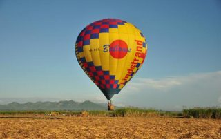Dominican Balloon landing